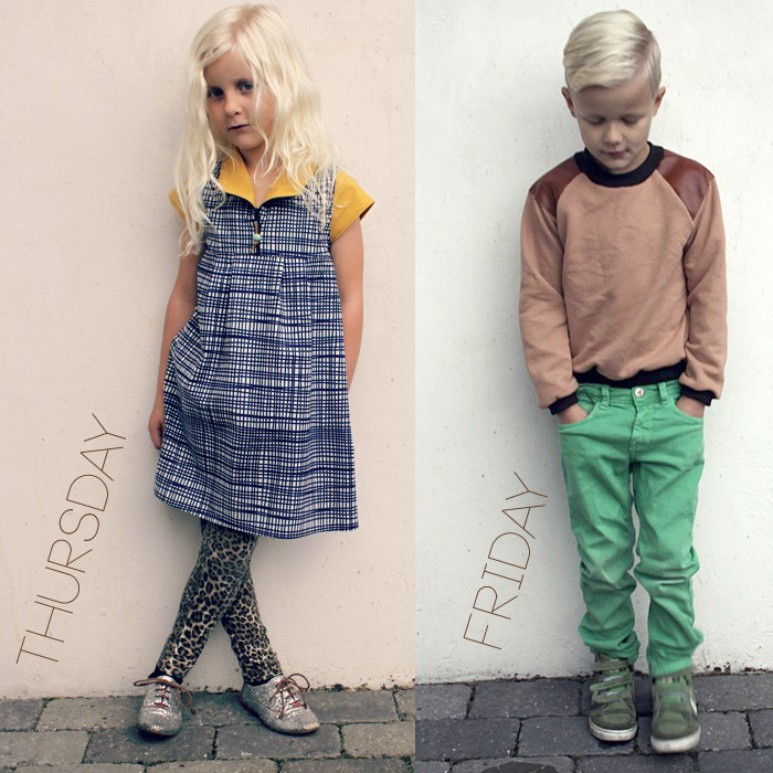 Groovybaby and Mama - Thursday and Friday outfits featured in the Lil Stylekins column on the Babiekins Magazine blog