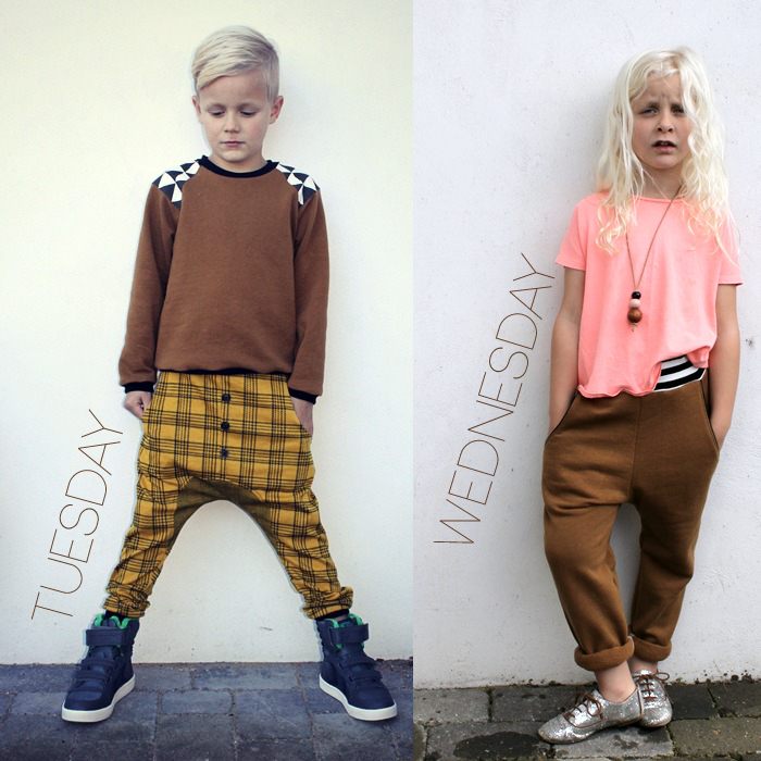 Groovybaby and Mama - Tuesday and Wednesday outfits featured in the Lil Stylekins column on the Babiekins Magazine blog