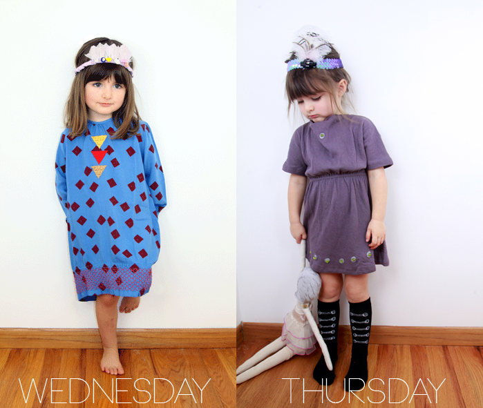 Wednesday and Thursday's Outfit from Poppy's Closet on the Lil' Stylekins Feature of the Babiekins Magazine blog