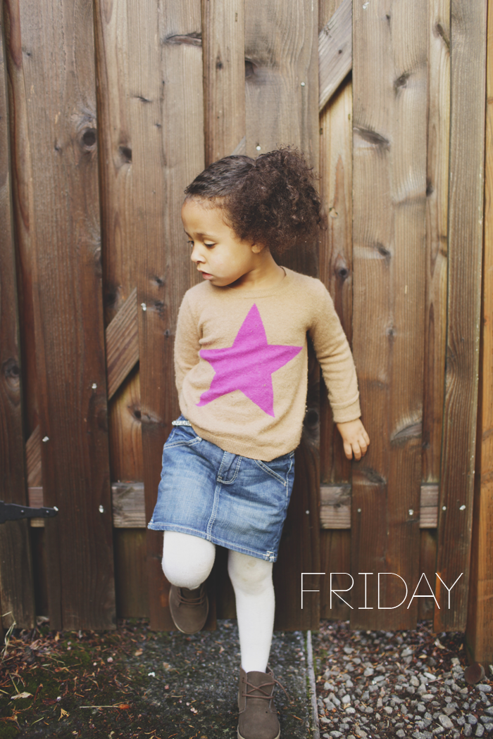 FRIDAY in a week of outfits modeled by Riley J on Babiekins Magazine's blog series Lil' Stylekin