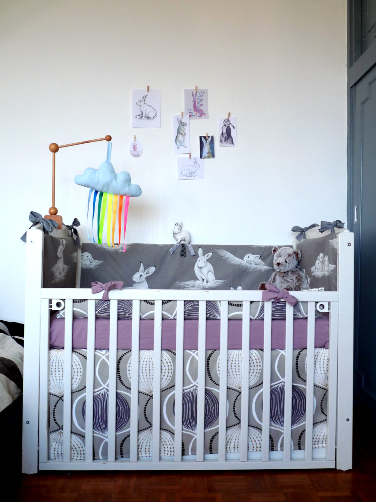 ROOMKINS Interior Design and Kids Room Decor on the Babiekins Magazine blog - A rabbit-themed baby space in Paris, France!