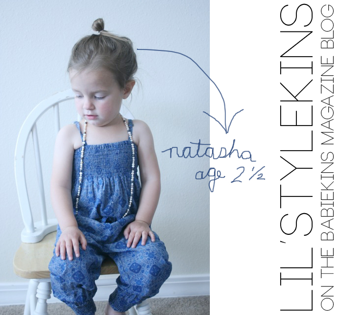 Lil Stylekins featuring Natasha via the Babiekins Magazine blog