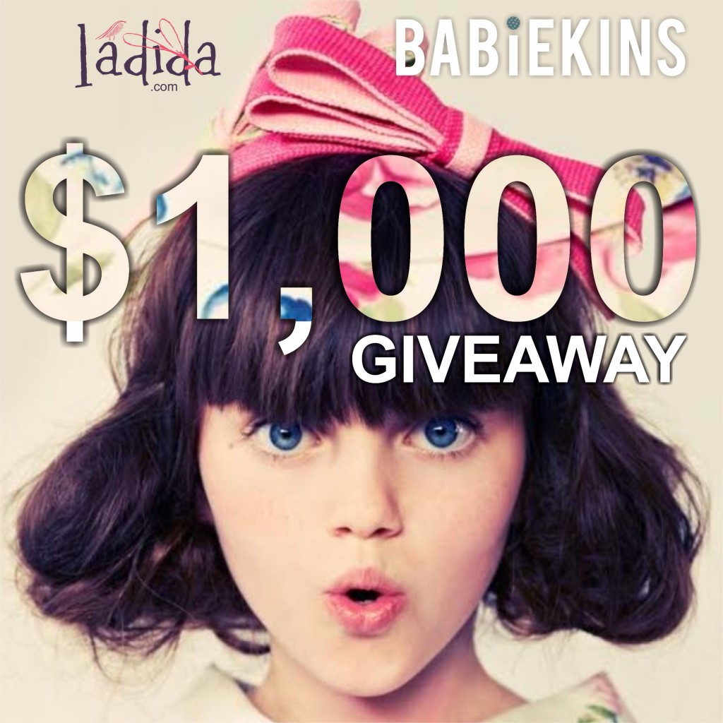 Babiekins Magazine | Learn how to win $1000 to Ladida and a subscription to Babiekins Magazine!