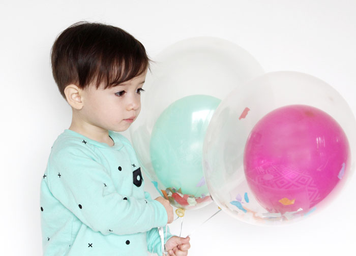 Babiekins Magazine | DIY Partykins // Balloon in a Balloon with Confetti