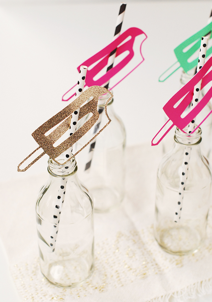 Craftykins // DIY Popsicle Drinking Straws