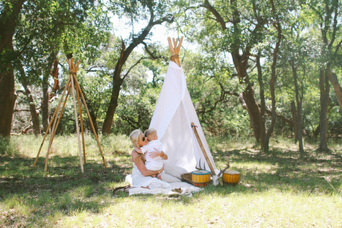 Babiekins Magazine| Momkins//Birthday Photo Tradition: Tribal Camping