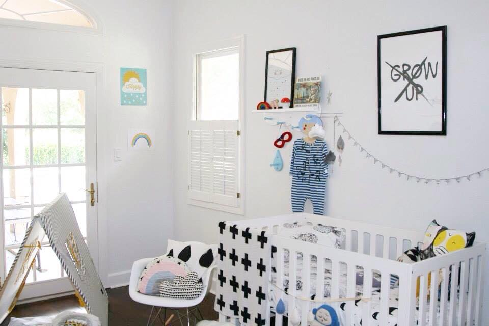 SLEEPYKINS // Baby Leo's Bright and Airy Nursery