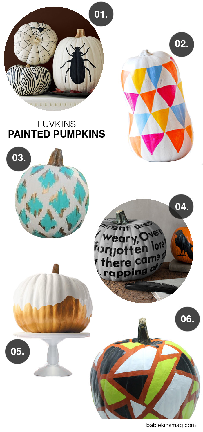 BabiekinsMag Blog  Luvkins // Painted Pumpkins