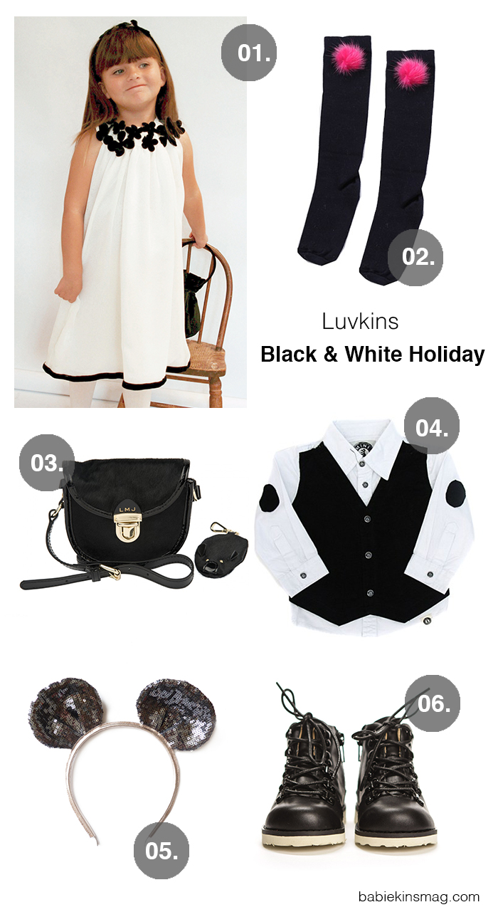 Babiekins Magazine // Editor Picks for Christmas - Black and White Holiday