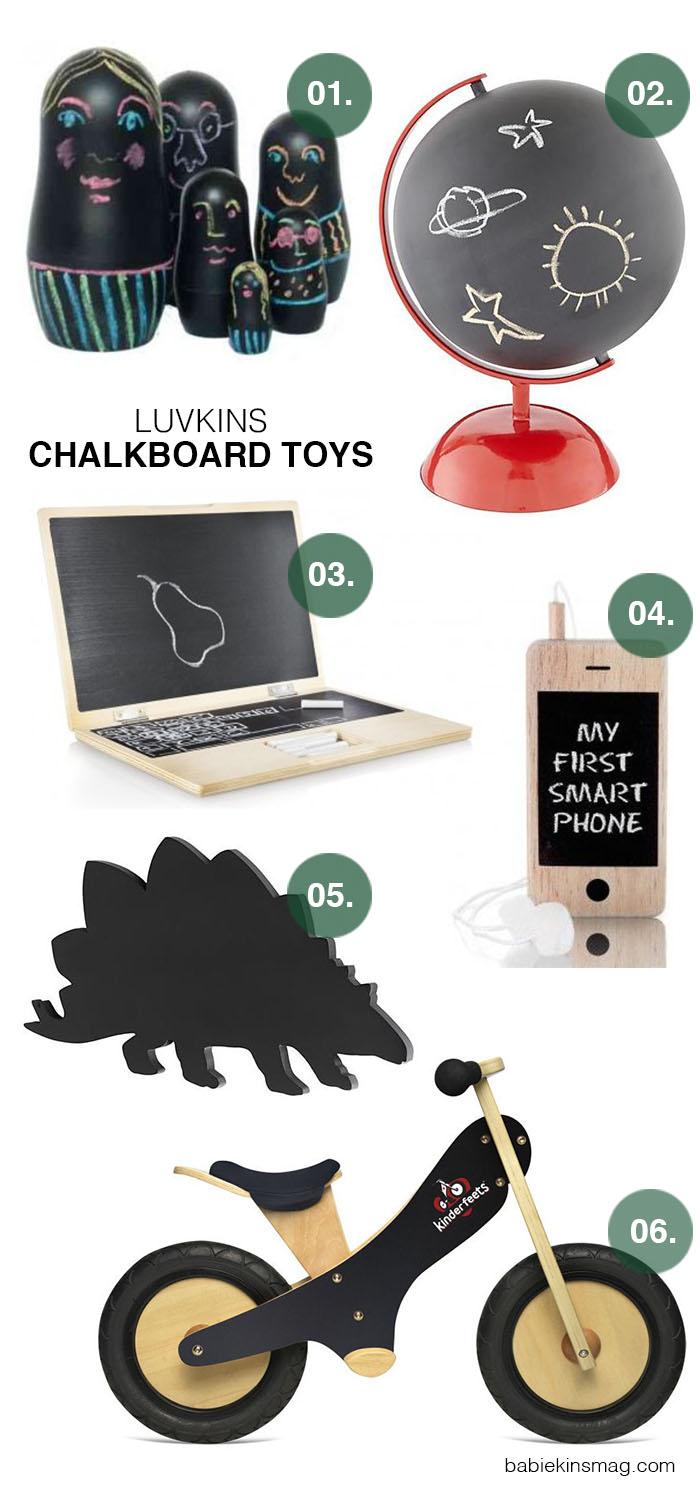 Babiekins Magazine | Luvkins  // Chalkboard Toys