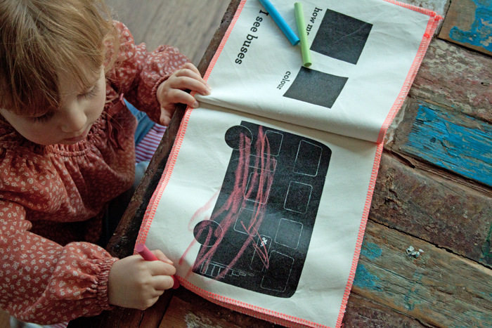 Babiekins Magazine | Little Mashers Edie Drawing Bus