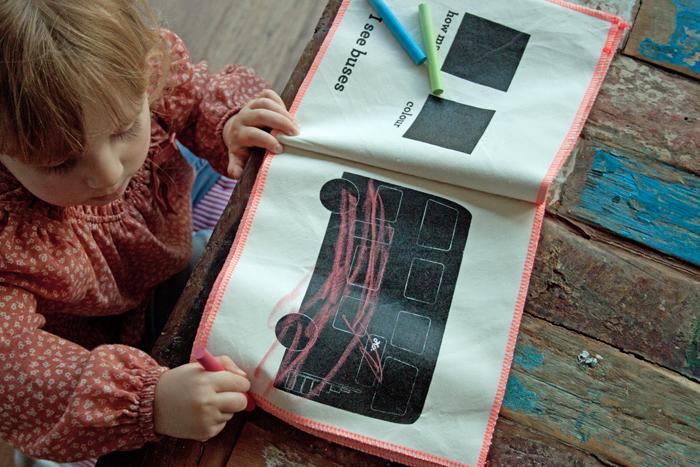 Babiekins Magazine | Little Mashers Edie Drawing Bus