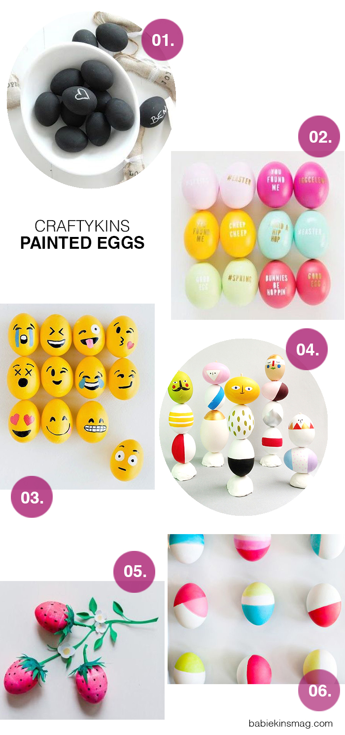 Babiekins Magazine | Craftykins // Painted Eggs