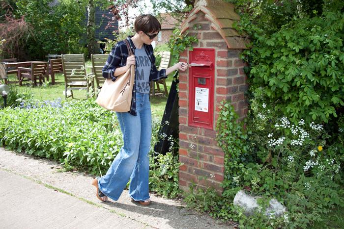 Babiekins Magazine_Momkins_One Look 3 Ways_Flares_Posting Letter
