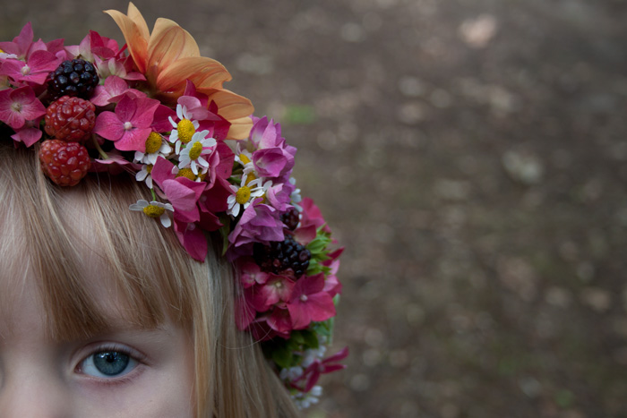 Babiekins Magazine | Festival Fashionkins | Edie Flower Crown Close Up