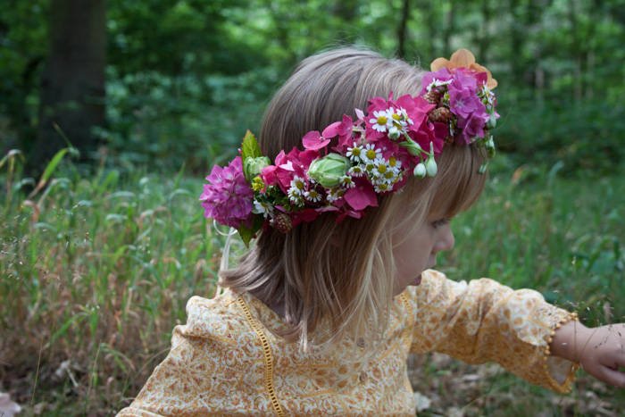 Babiekins Magazine | Festival Fashionkins | Edie Flower Crown in Profile