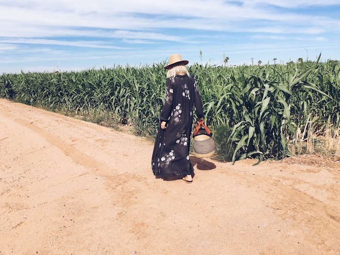 Babiekins Mag | Fall floral Maxi Dress