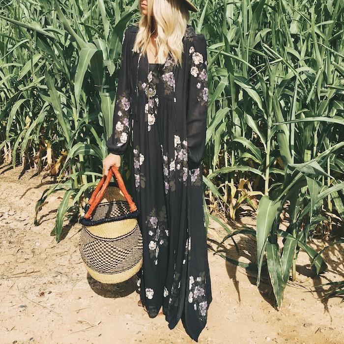 Babiekins Mag | Momkins//Fall Floral Maxi