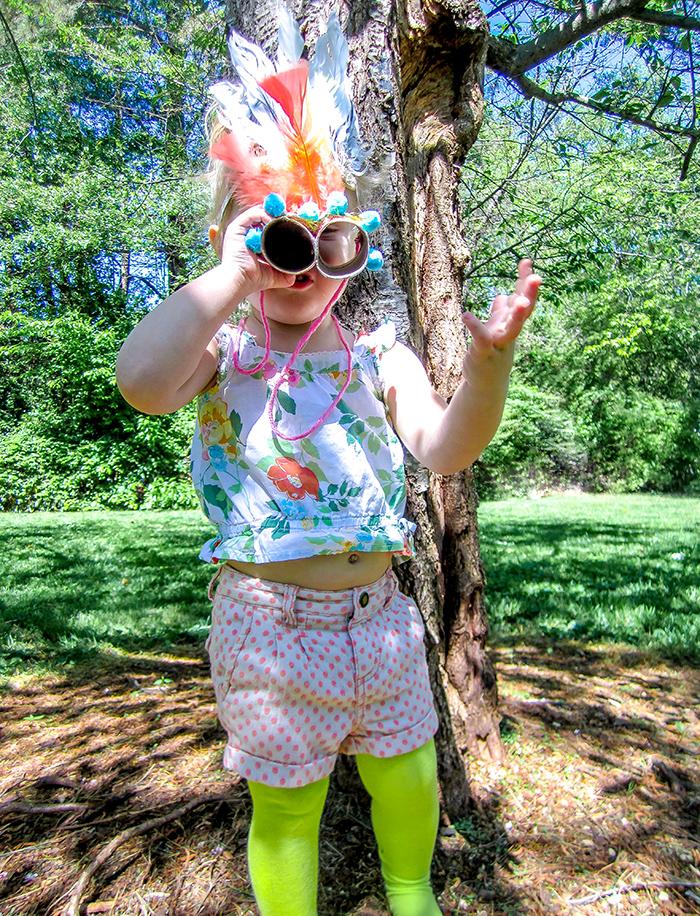 Babiekins Magazine | DIY Springtime Binoculars