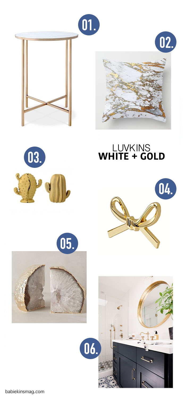 Babiekins Magazine // Luvkins White & Gold Decor