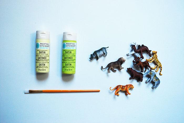 Babiekins Magazine | Animal Tic Tac Toe To Go Paint