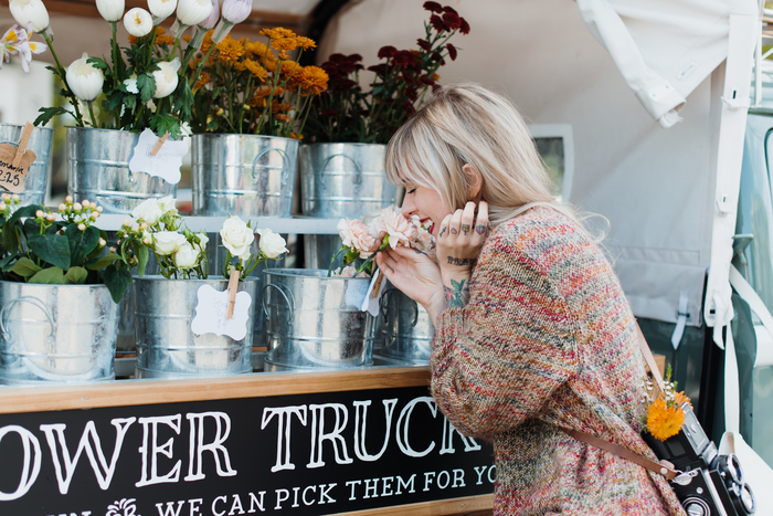 BABIEKINS MAGAZINE | Flower Truck Hangs & Thrifted Sweaters
