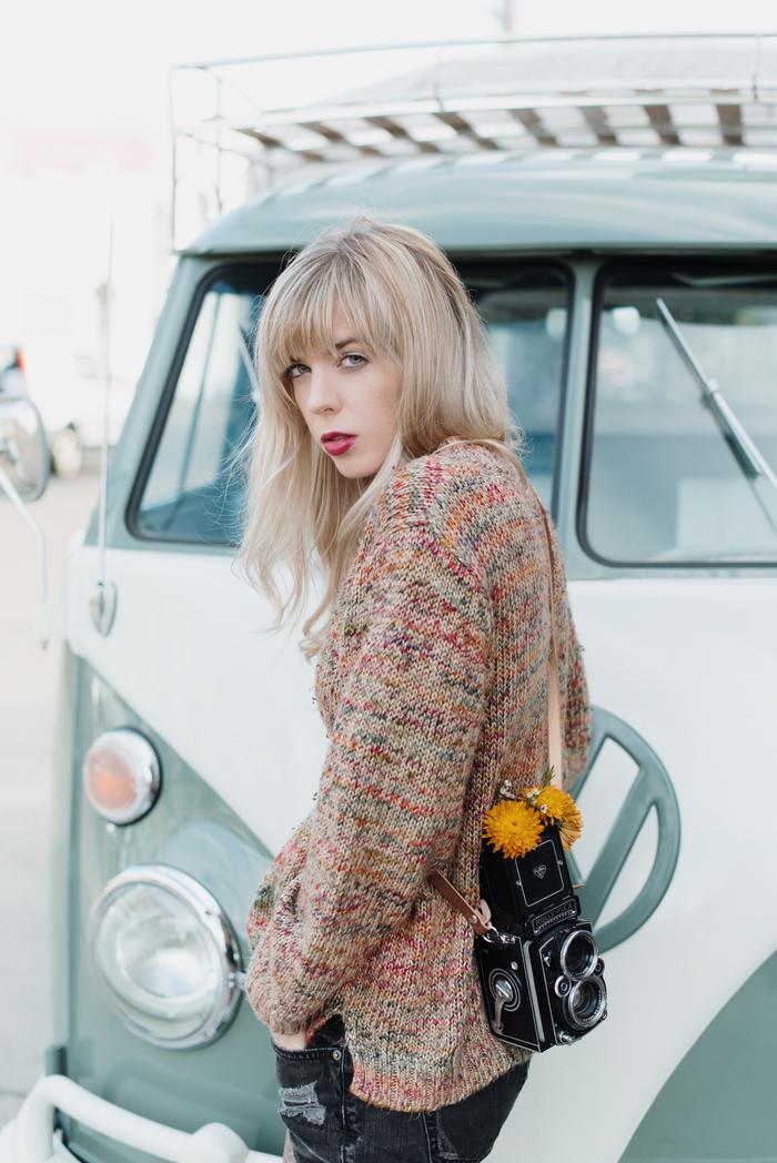 BABIEKINS MAGAZINE | Flower Truck Hangs & Thrifted Sweaters