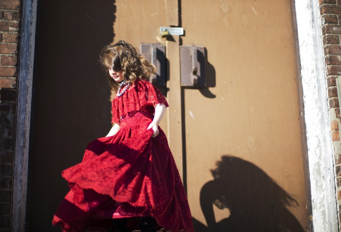 BABIEKINS MAGAZINE| Little Girl in Red on the Prairie