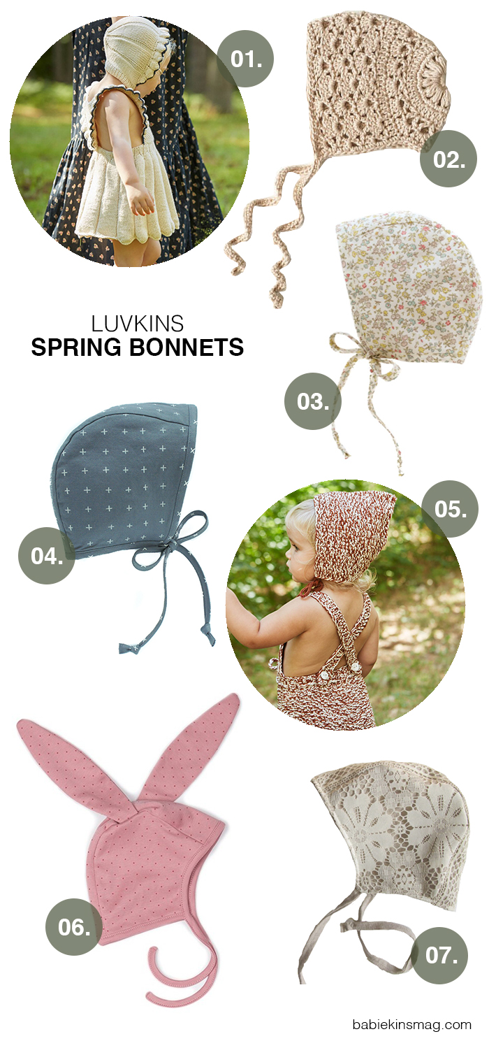 Luvkins // Spring Bonnets | Babiekins Magazine