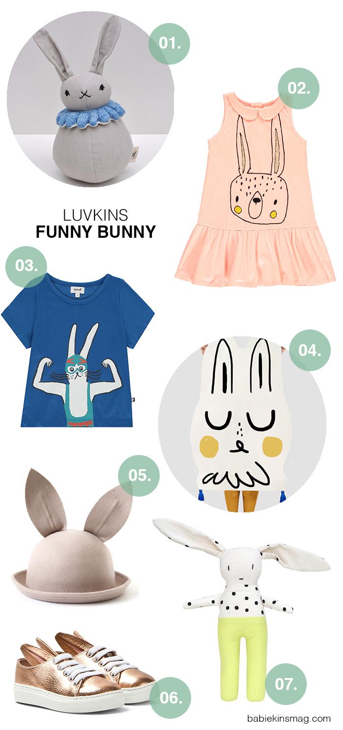 Luvkins // Funny Bunny | Babiekins Magazine