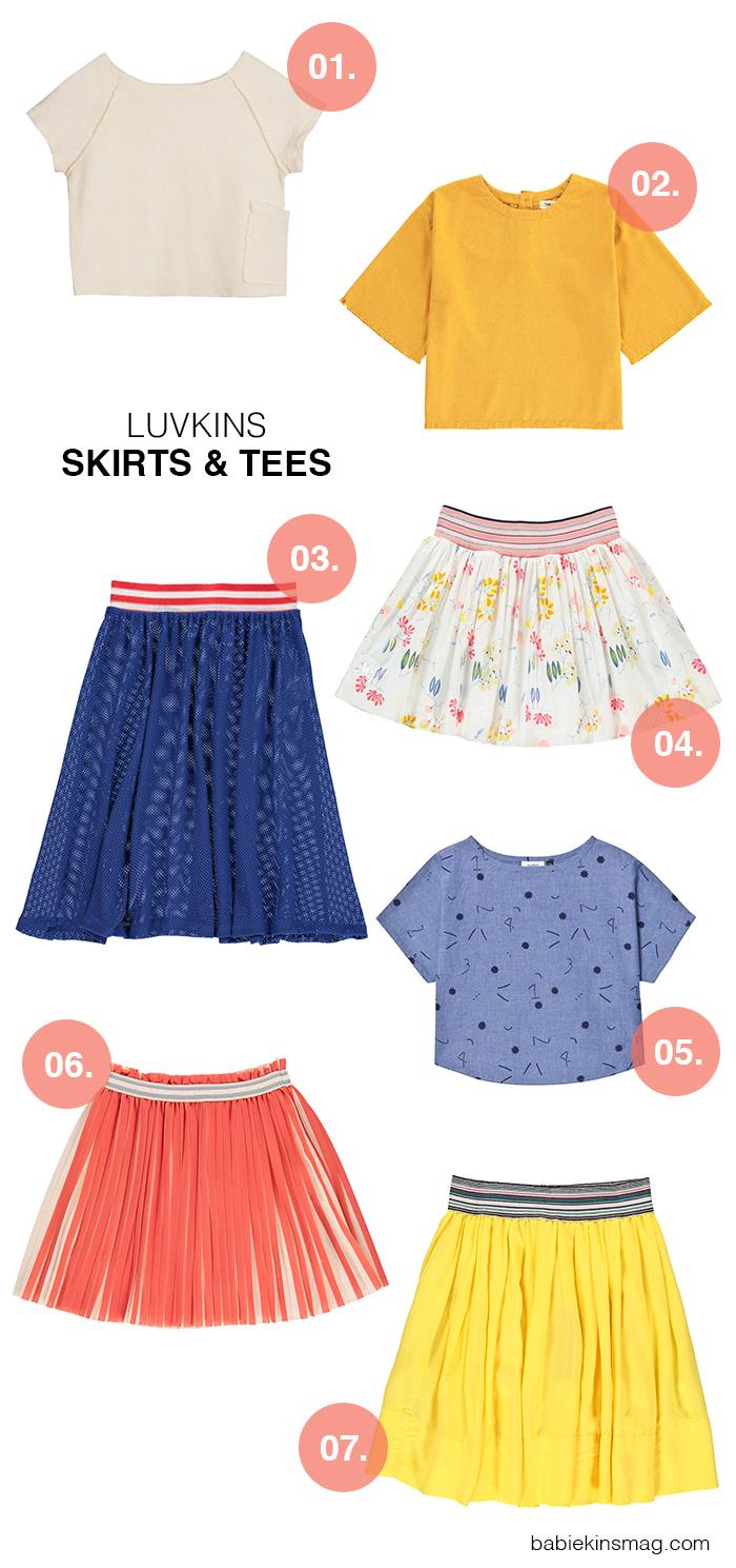 Luvkins // Skirts & Tees | Babiekins Magazine