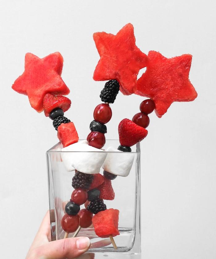 Babiekins Magazine || July 4th Fruit Wand / Kabob