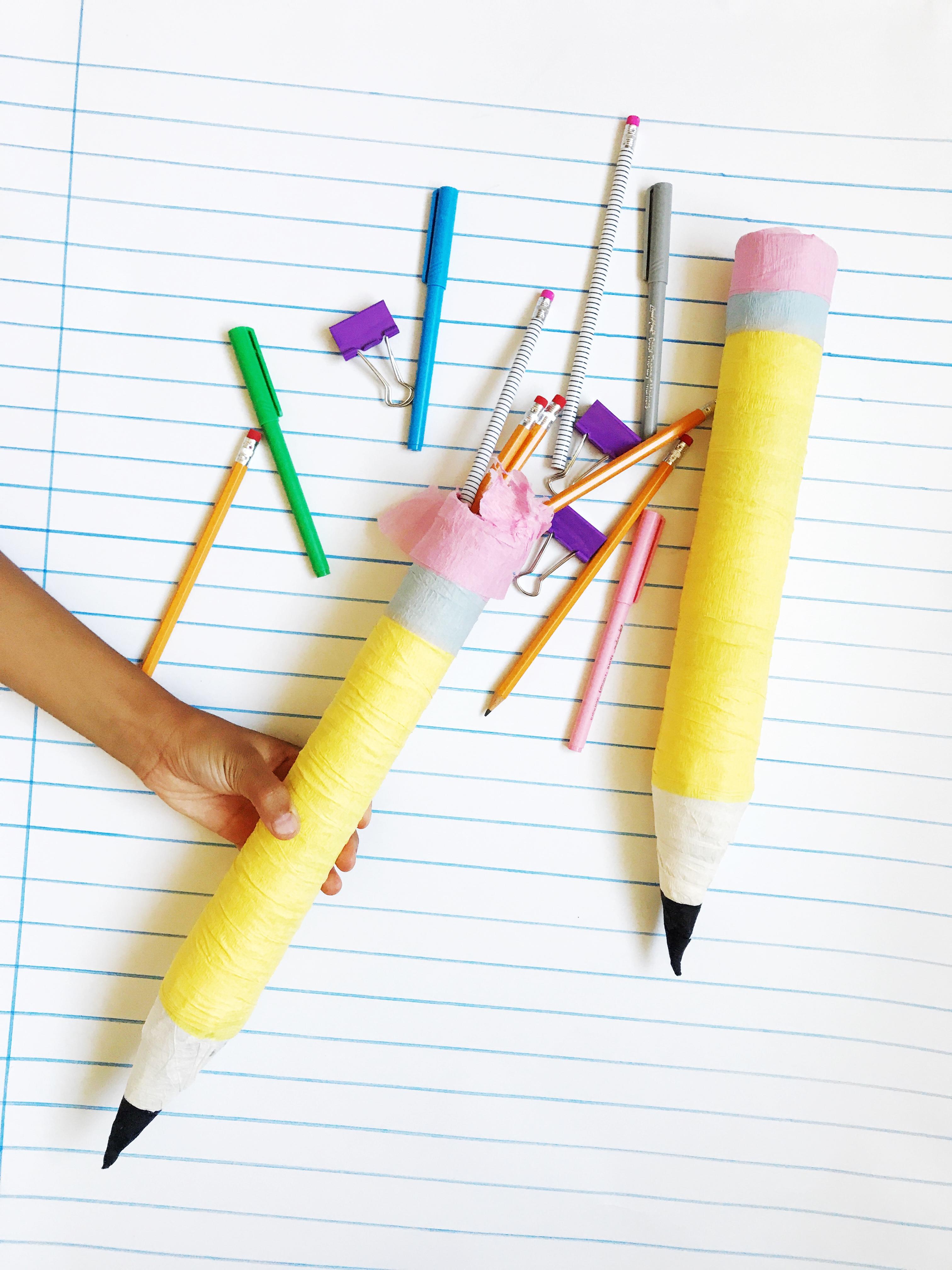 crepe paper pencil surprise