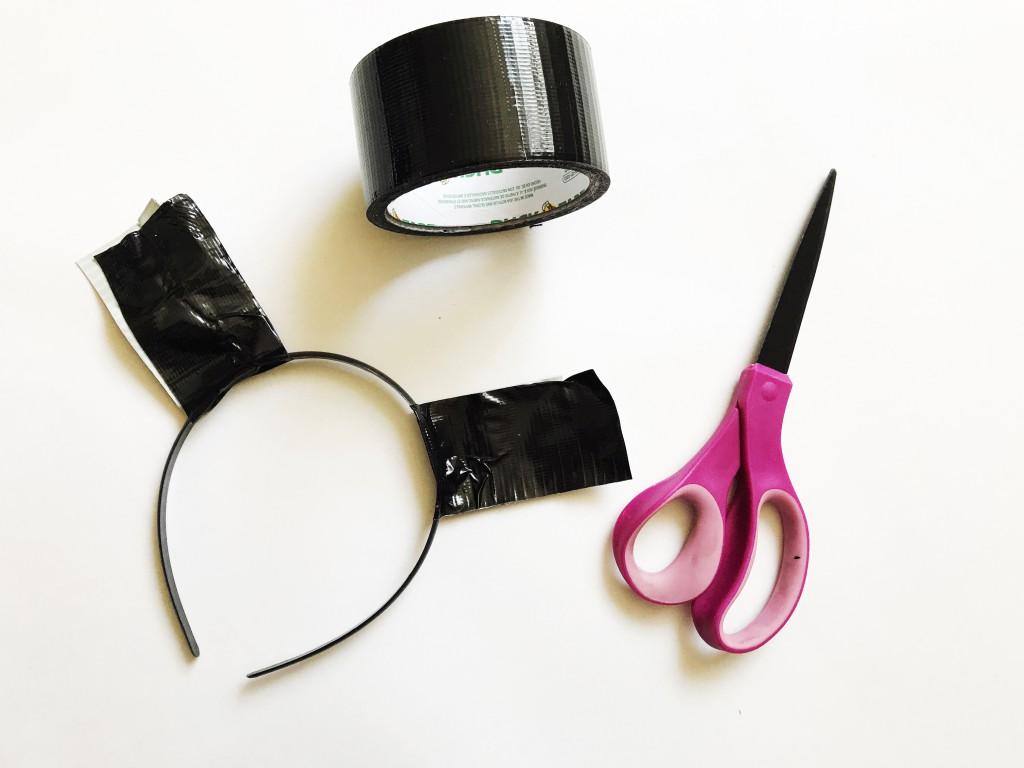 tiger duck tape costume headband