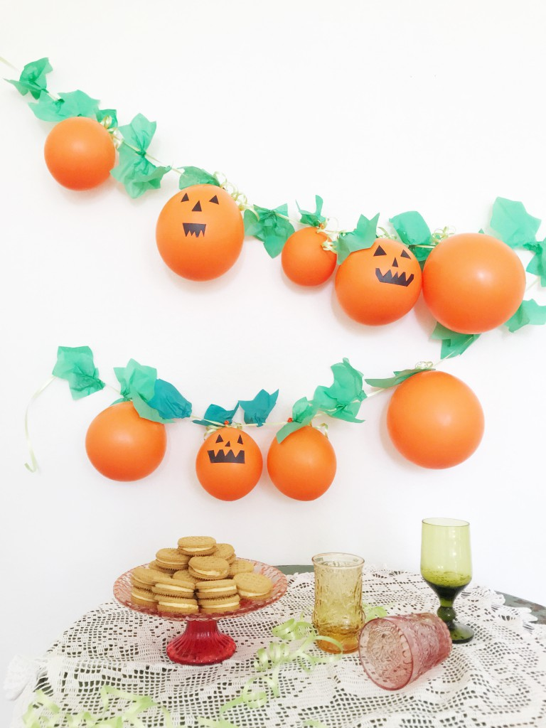 pumpkin garland DIY - 1
