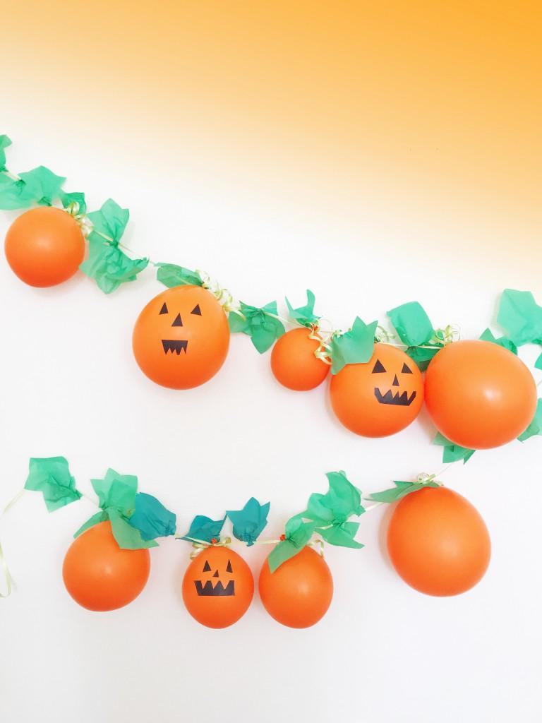 pumpkin garland DIY - 2