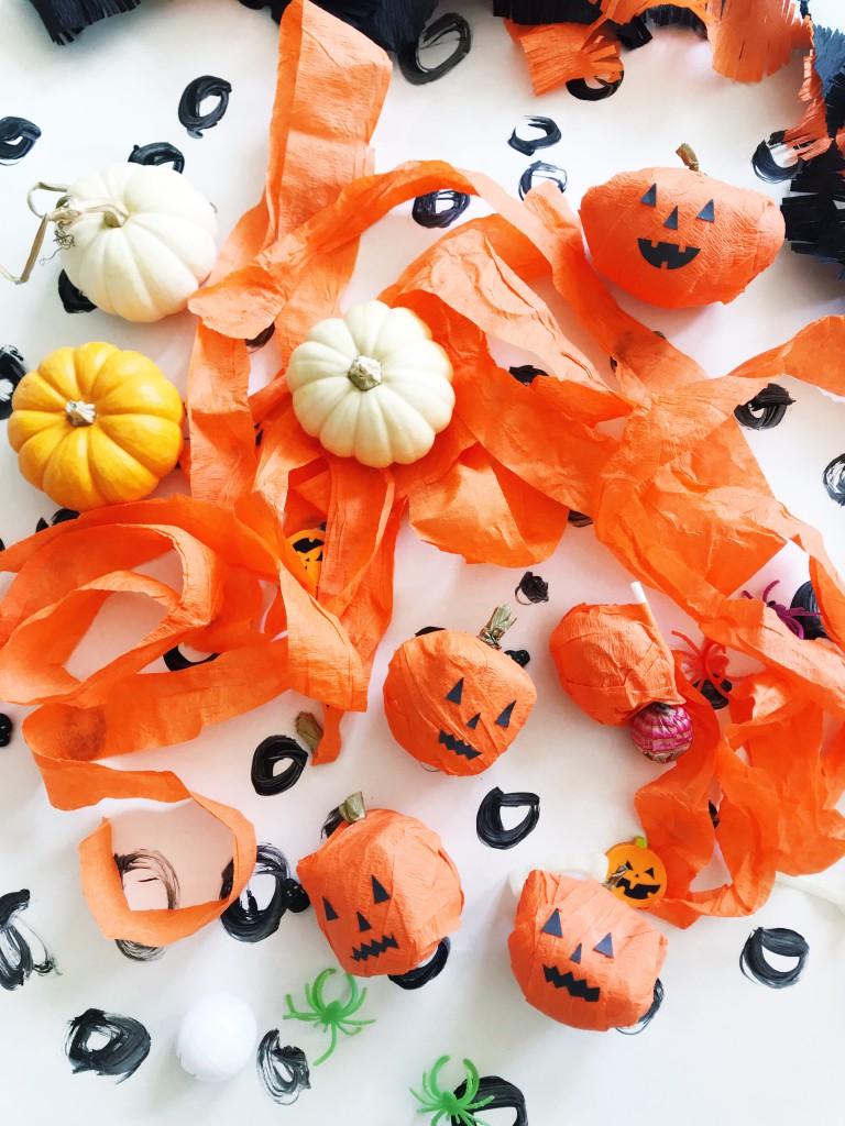 pumpkin surprise ball DIY