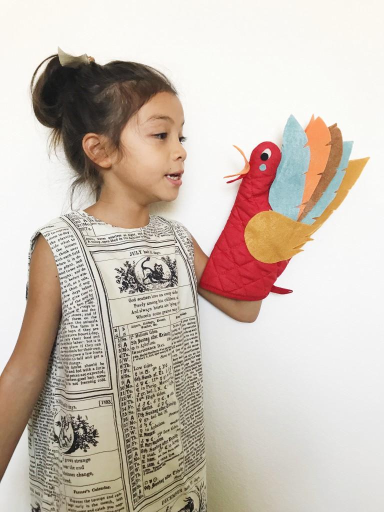 oven mitt turkey puppet // babiekins