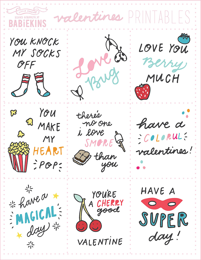 Valentine's Day Printables /// Babiekins