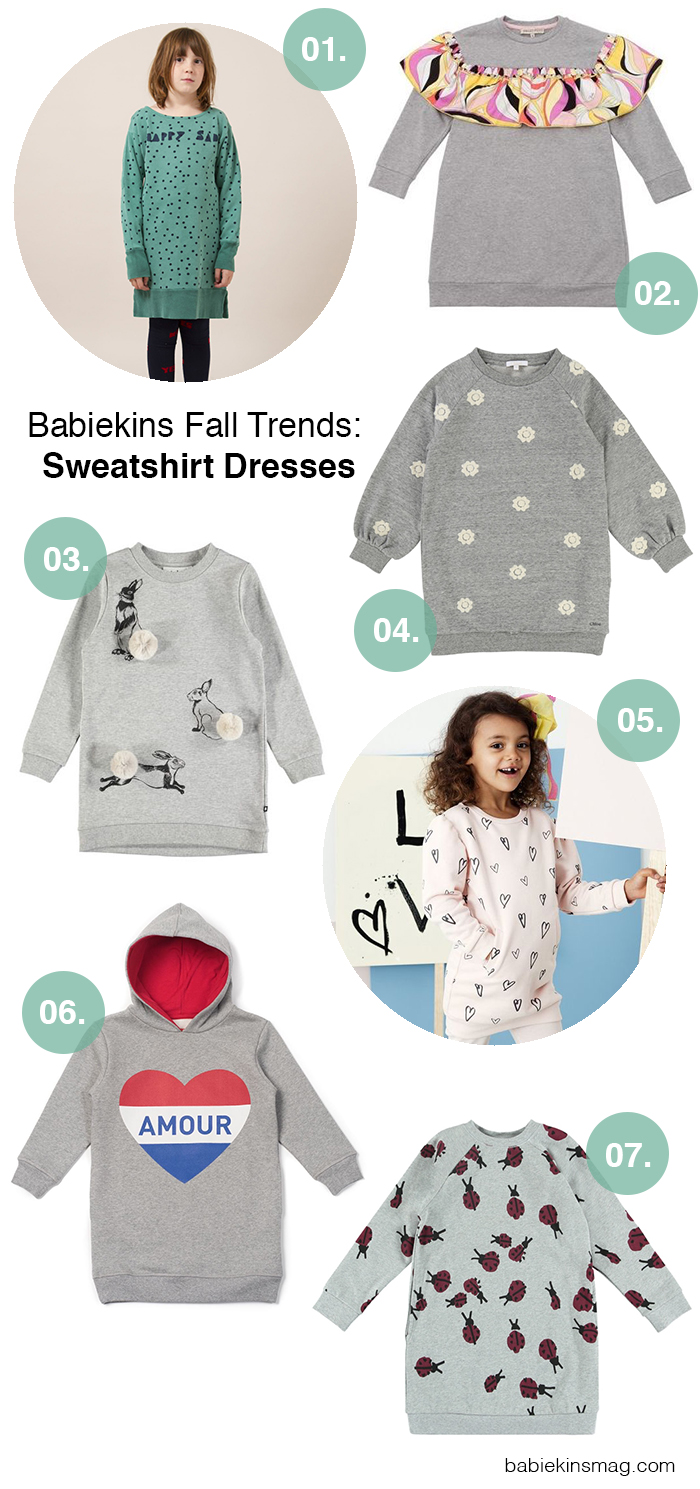 Babiekins Fall Trends: Sweatshirt Dresses | Babiekins Magazine