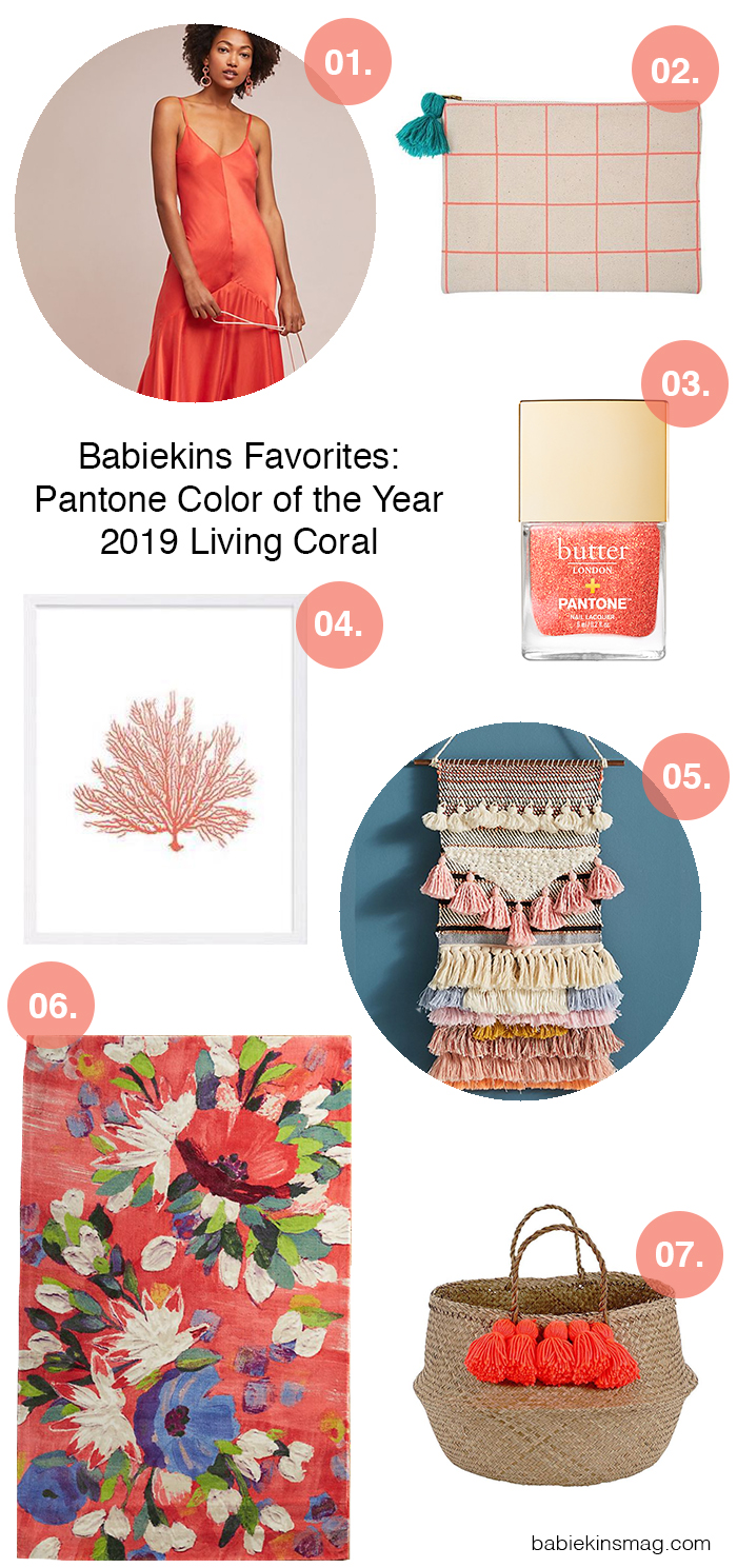 Babiekins Favorites: Pantone Color of the Year 2019 Living Coral | Babiekins Magazine