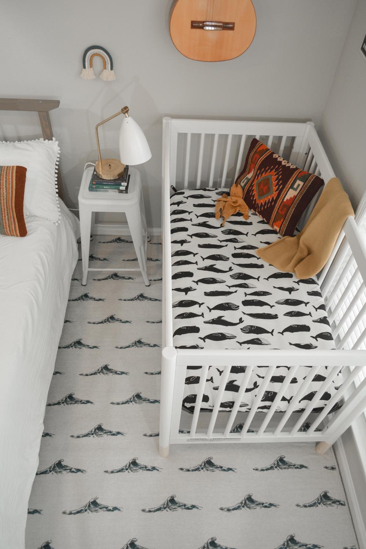 Minimal Nursery Corner in Master Bedroom