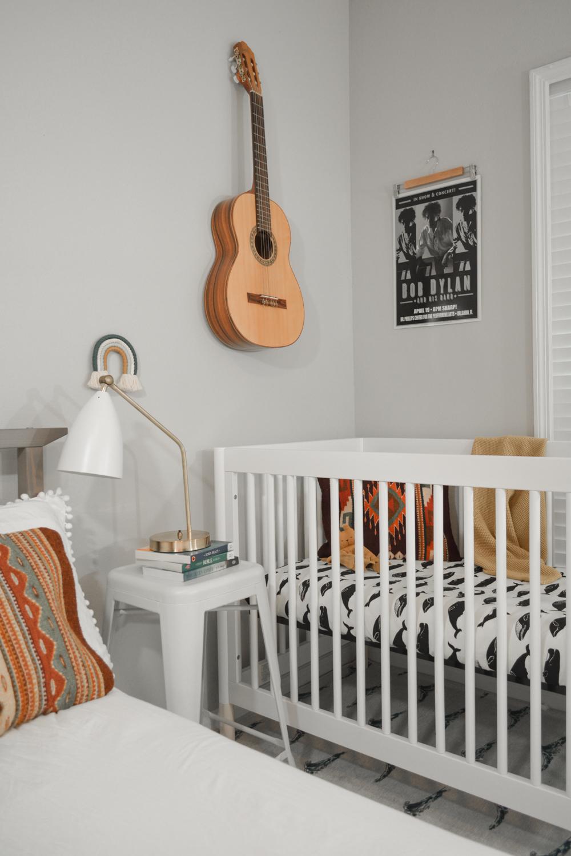 Minimal Nursery Corner in Master Bedrrom